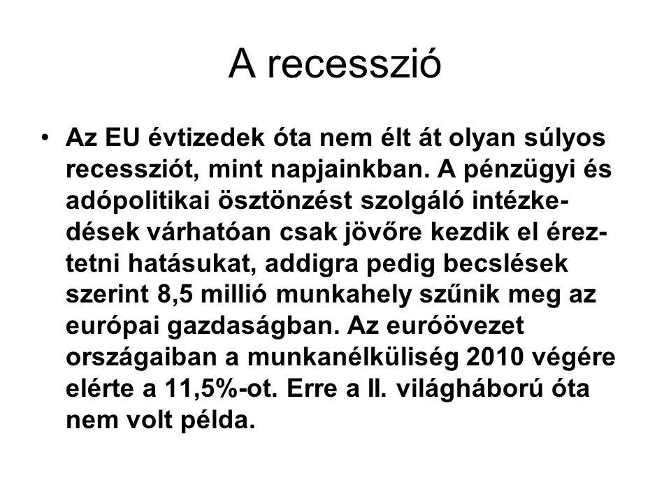 A recesszió