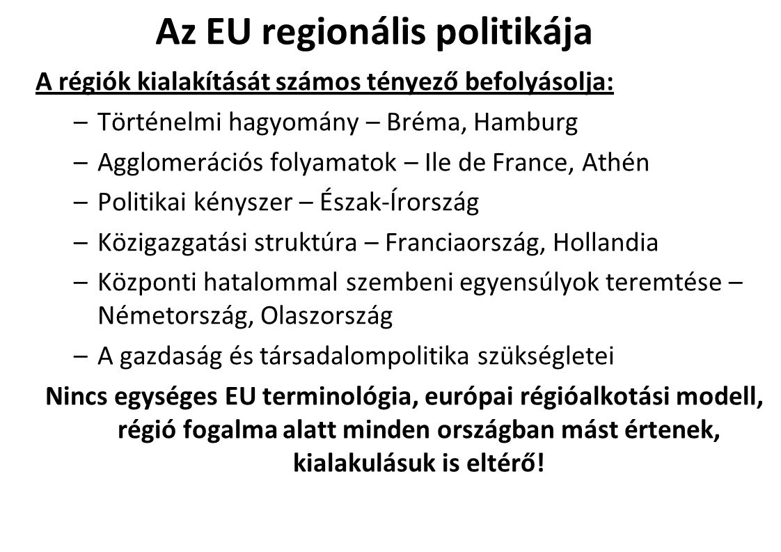 Az EU regionális politikája