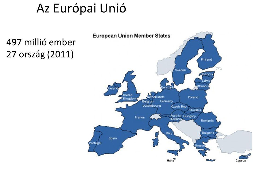 Az Európai Unió 497 millió ember 27 ország (2011)