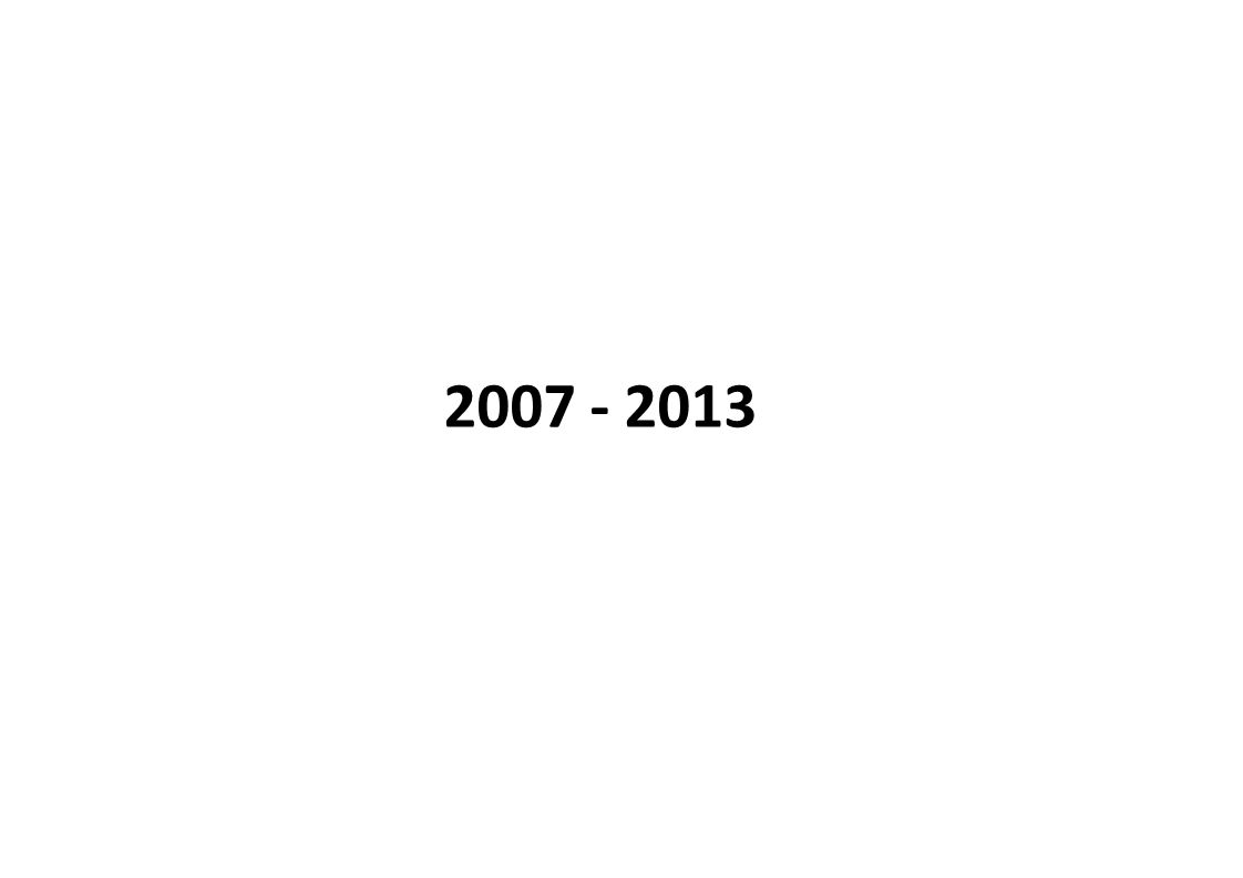2007 - 2013