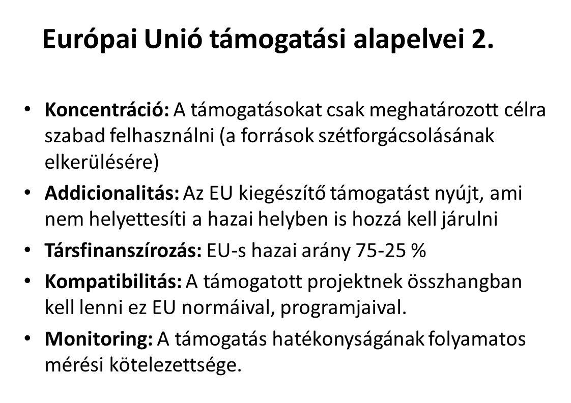 Európai Unió támogatási alapelvei 2.