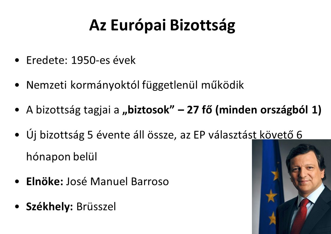 Az Európai Bizottság Eredete: 1950-es évek