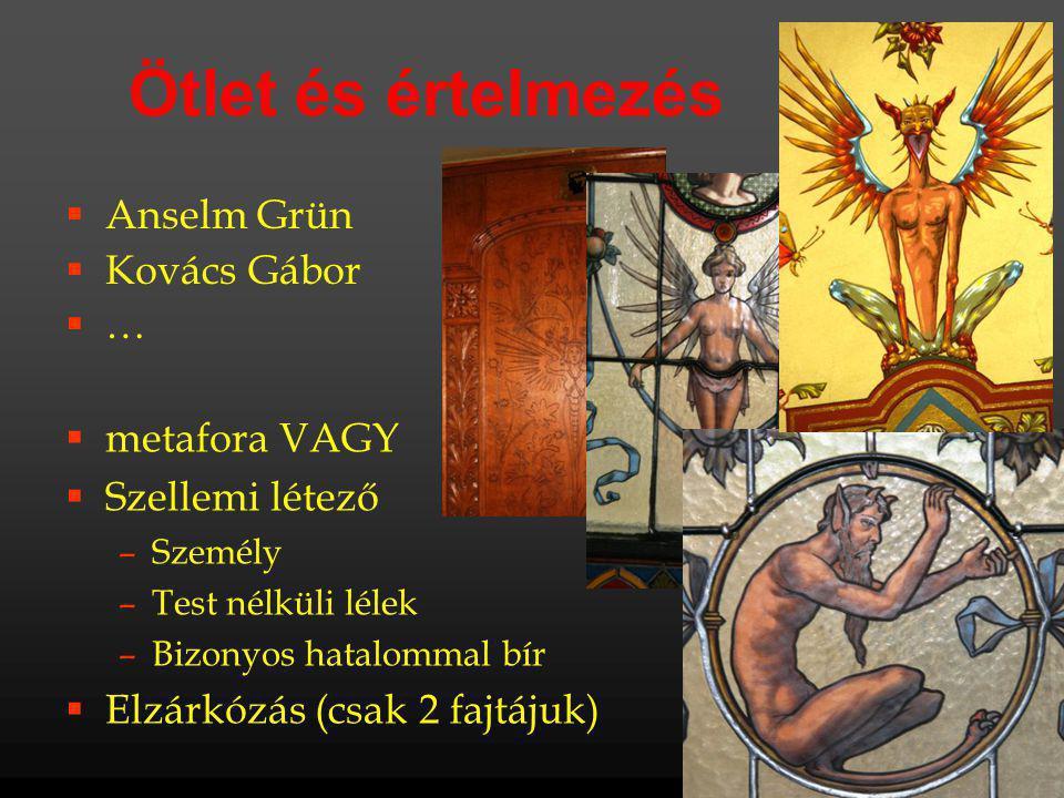 Ötlet és értelmezés Anselm Grün Kovács Gábor … metafora VAGY