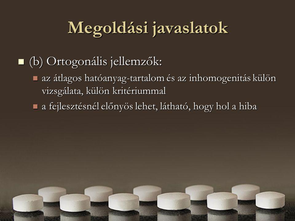 Megoldási javaslatok (b) Ortogonális jellemzők:
