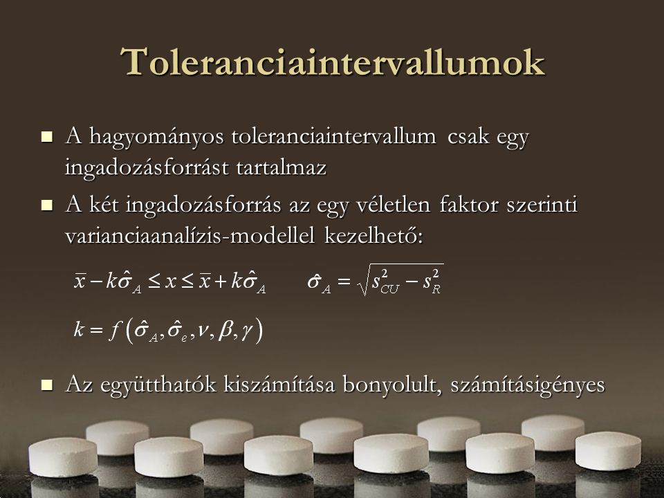 Toleranciaintervallumok