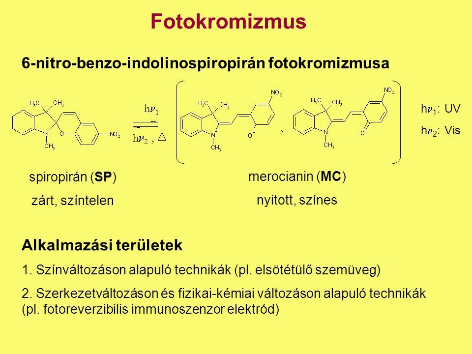 Fotokromizmus 6-nitro-benzo-indolinospiropirán fotokromizmusa