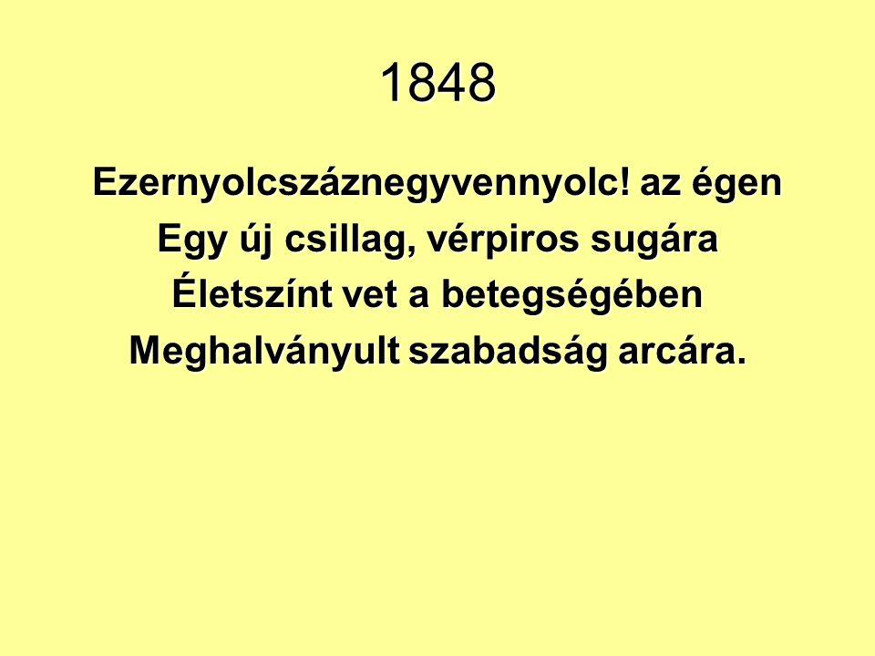 1848 Ezernyolcszáznegyvennyolc! az égen