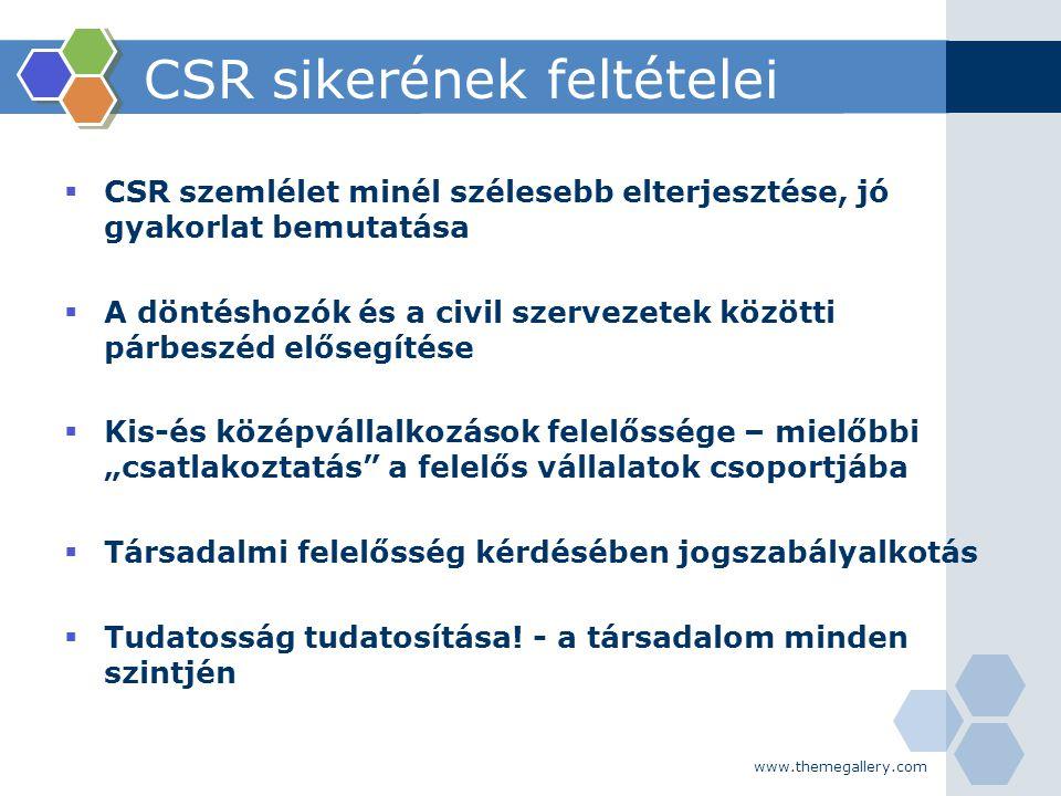 CSR sikerének feltételei