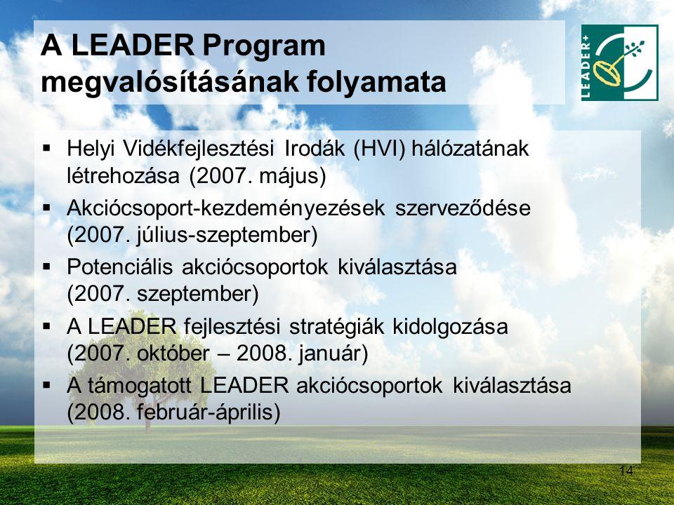 A LEADER Program megvalósításának folyamata