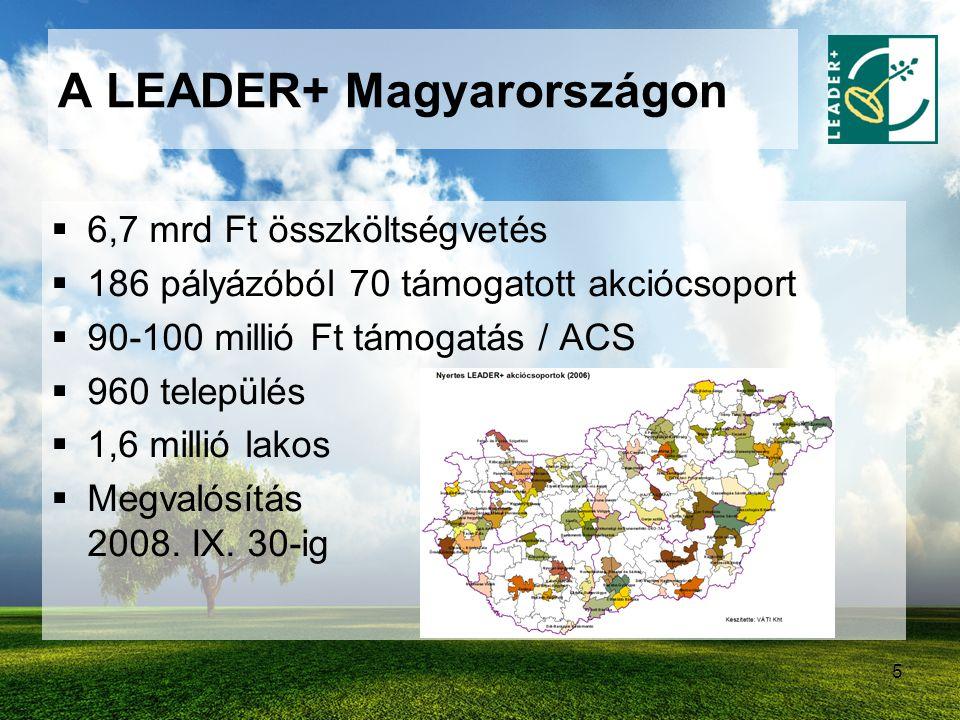 A LEADER+ Magyarországon