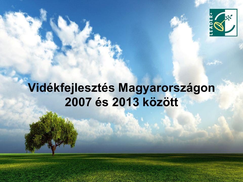Vidékfejlesztés Magyarországon 2007 és 2013 között