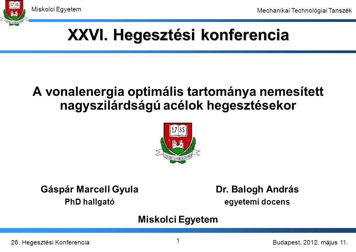 XXVI. Hegesztési konferencia