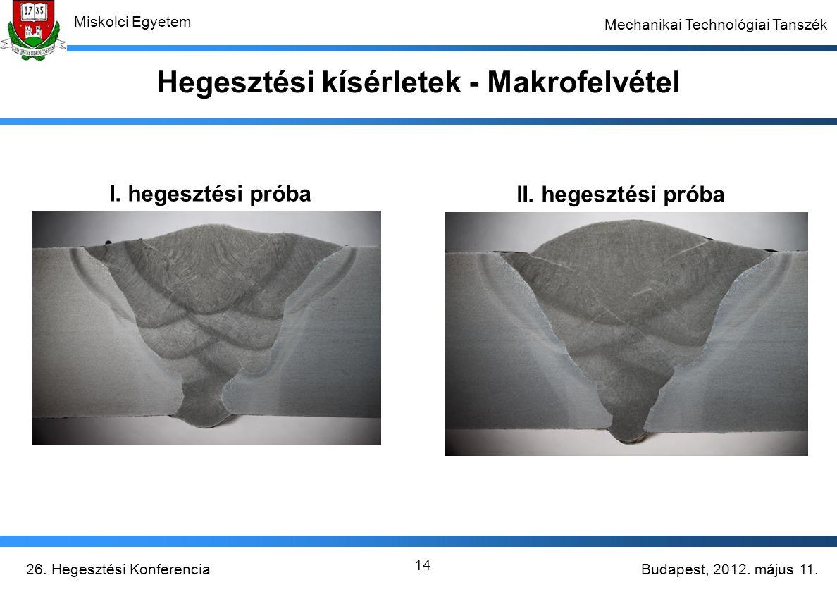 Hegesztési kísérletek - Makrofelvétel