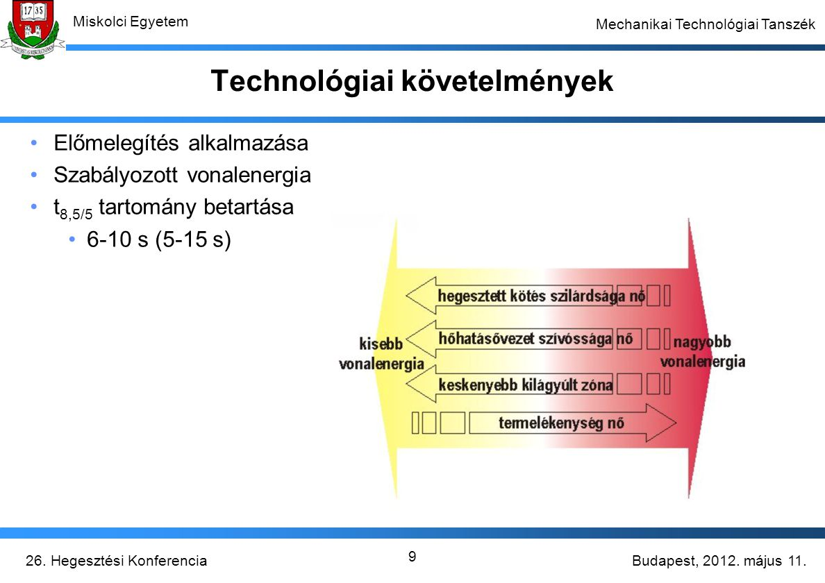Technológiai követelmények
