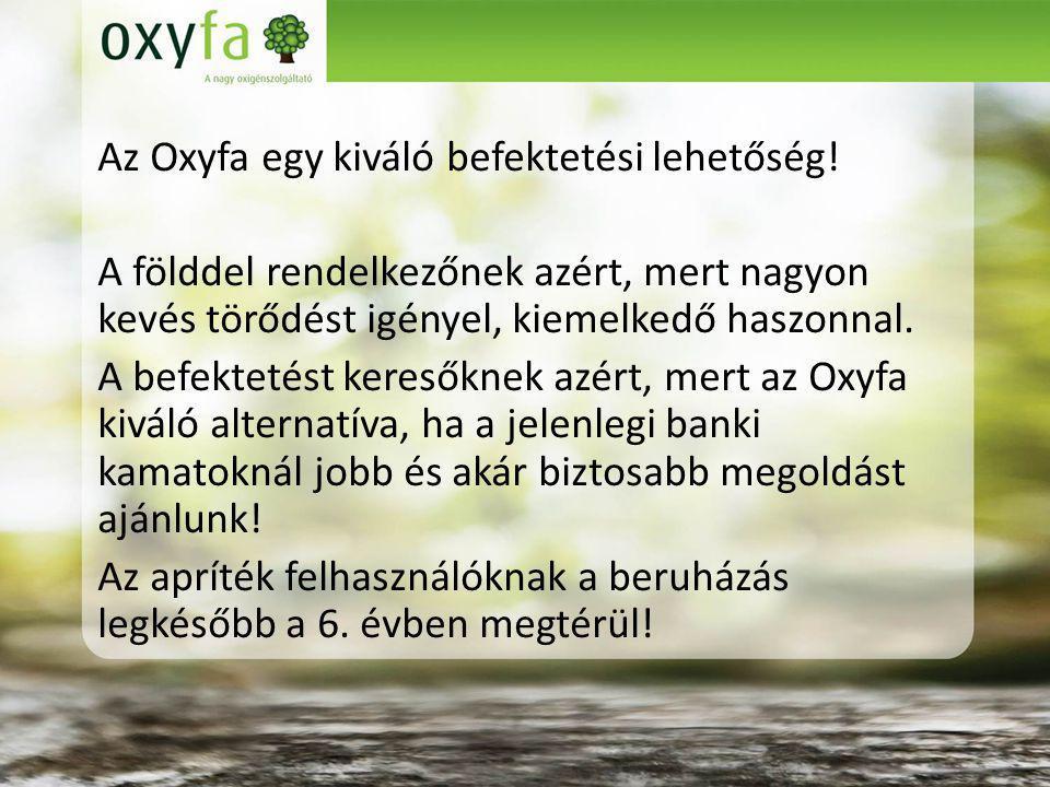 Az Oxyfa egy kiváló befektetési lehetőség