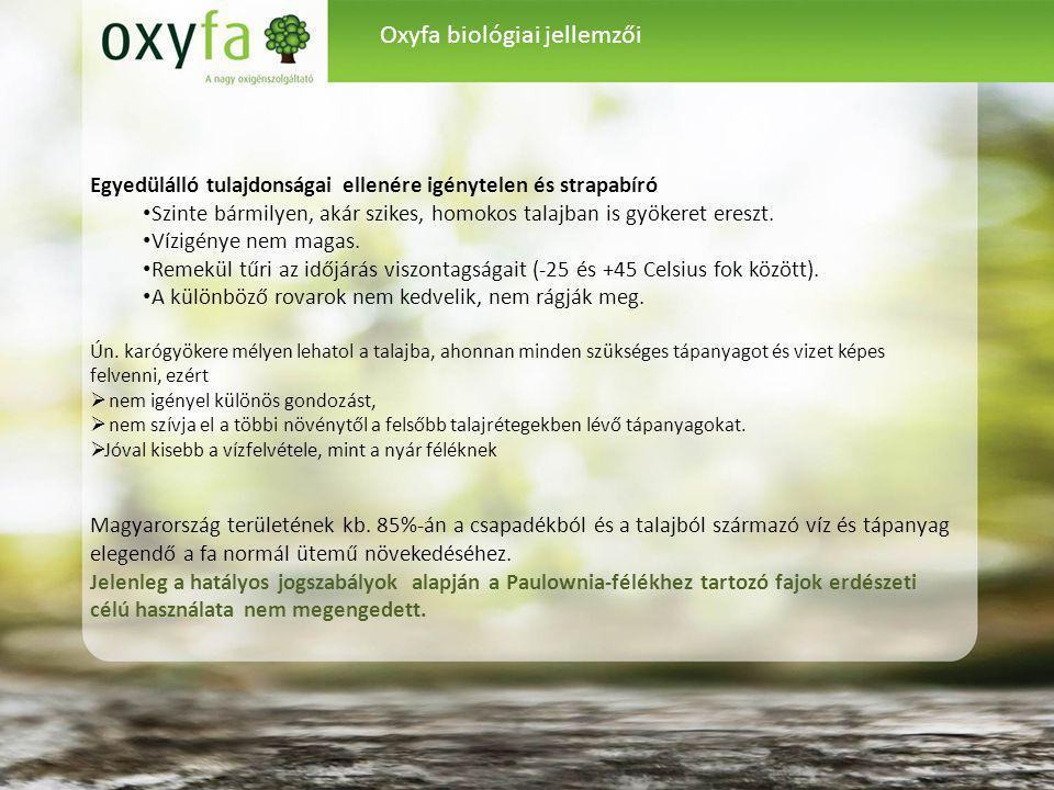 Oxyfa biológiai jellemzői