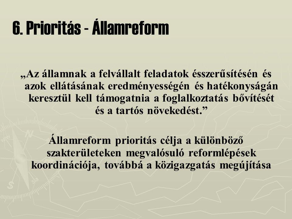 6. Prioritás - Államreform
