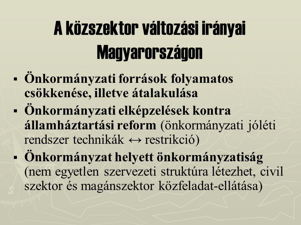 A közszektor változási irányai Magyarországon