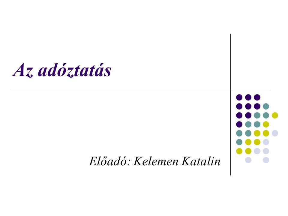 Előadó: Kelemen Katalin
