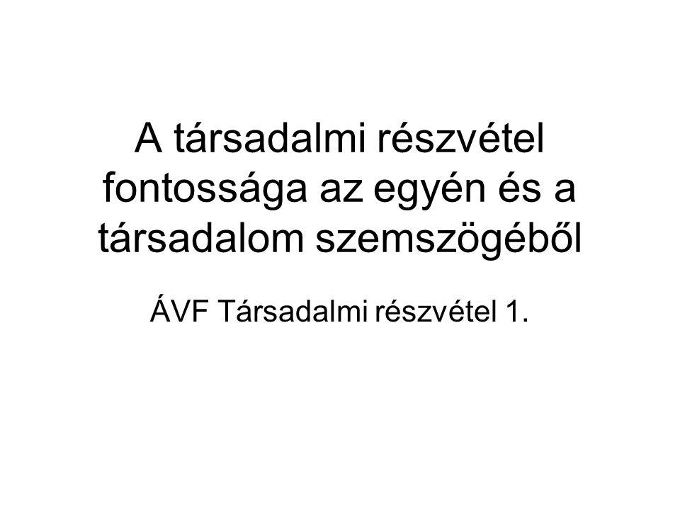 ÁVF Társadalmi részvétel 1.