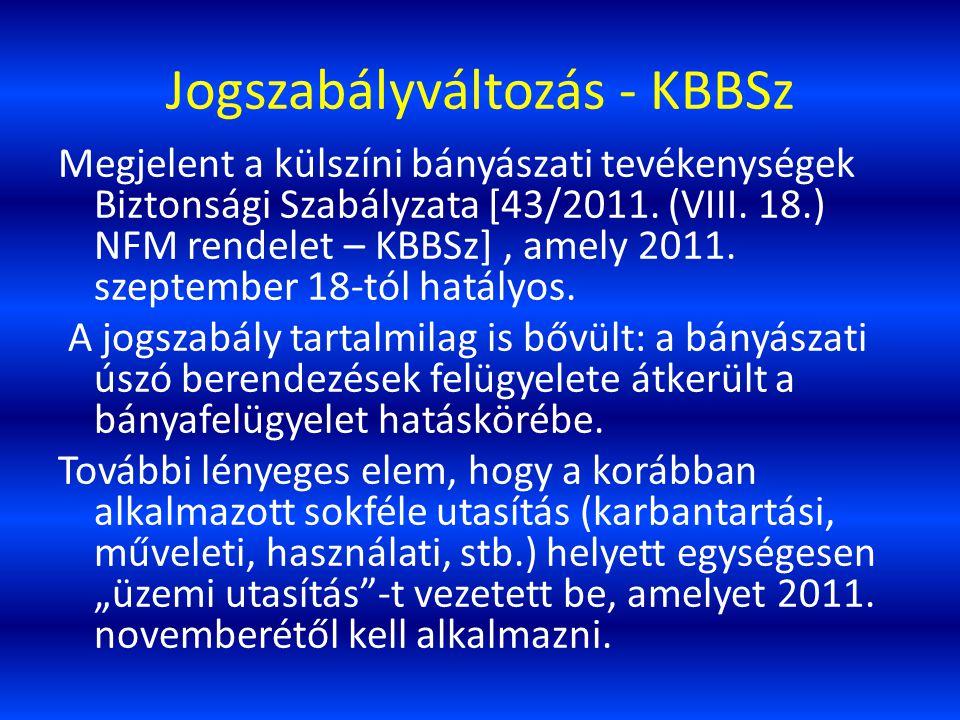 Jogszabályváltozás - KBBSz