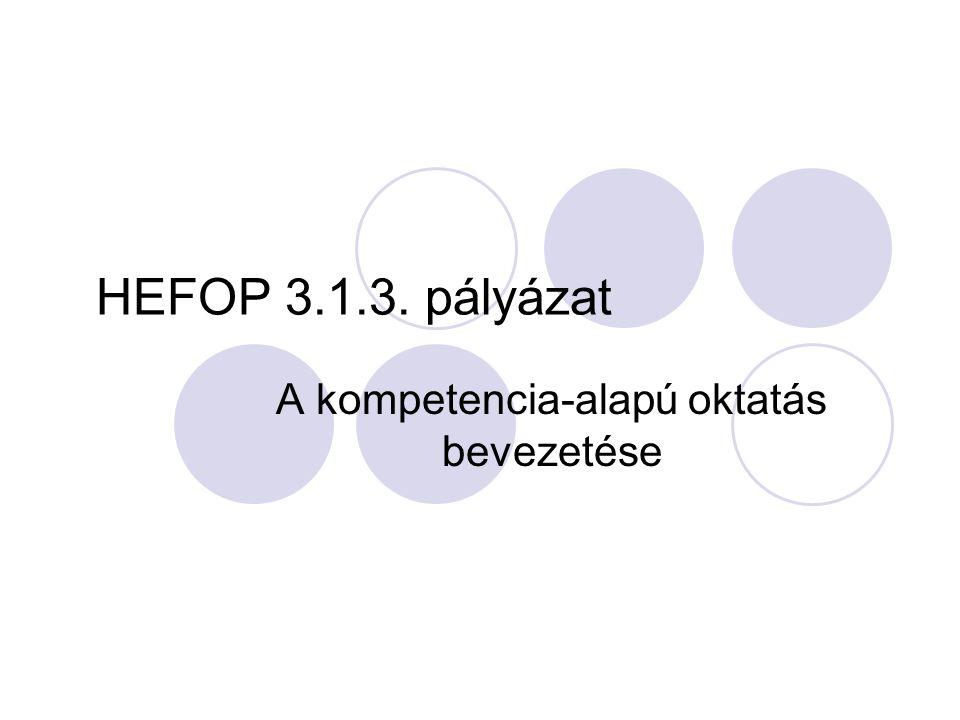 A kompetencia-alapú oktatás bevezetése