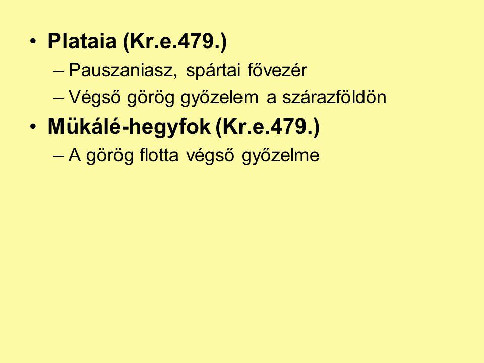 Plataia (Kr.e.479.) Mükálé-hegyfok (Kr.e.479.)