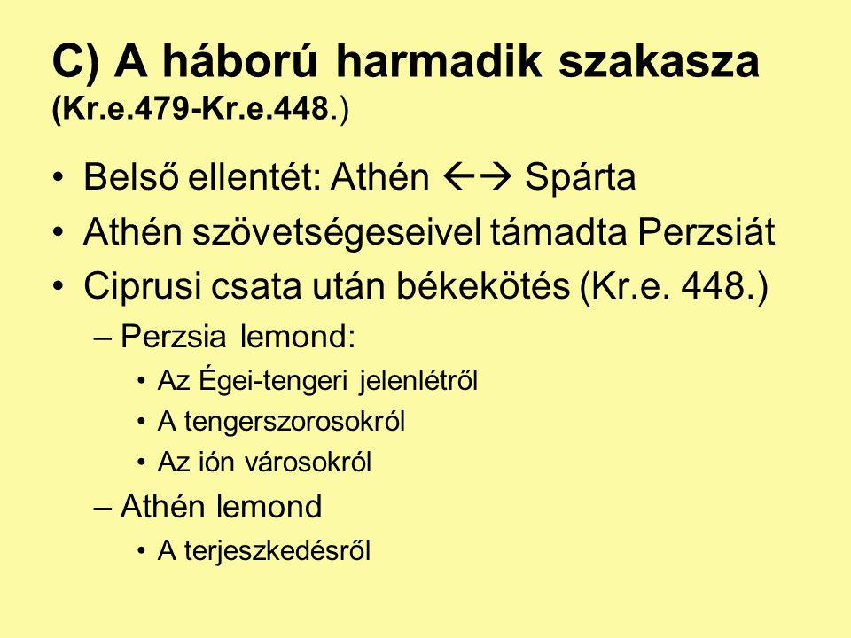 C) A háború harmadik szakasza (Kr.e.479-Kr.e.448.)