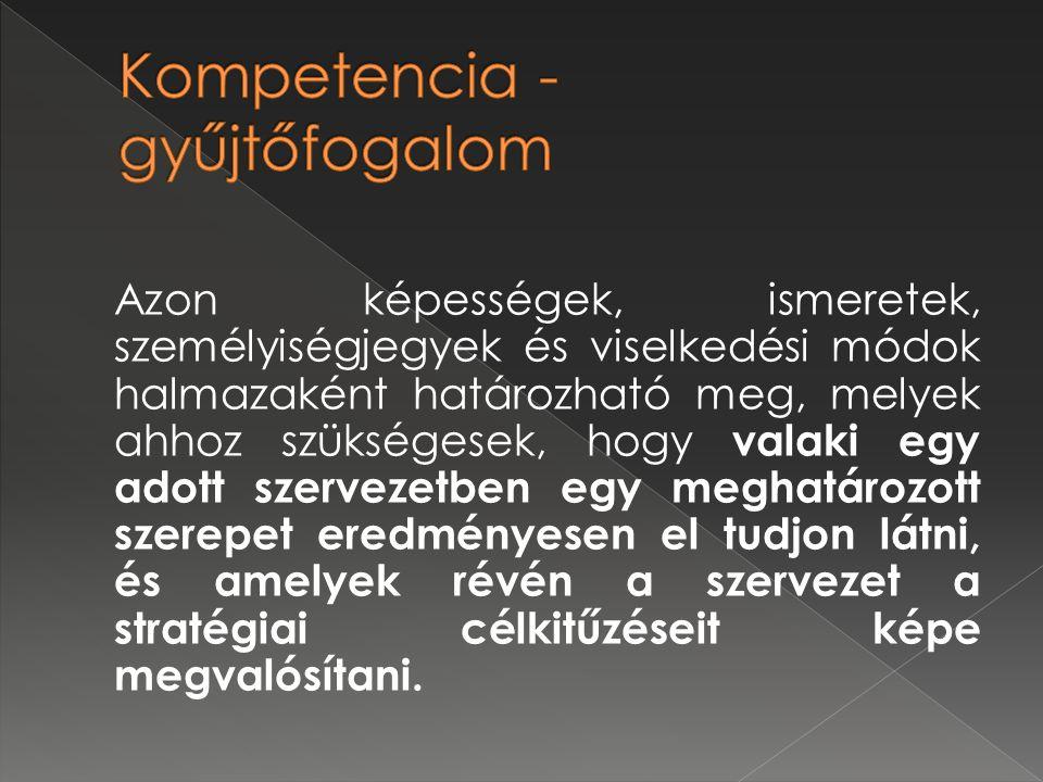 Kompetencia - gyűjtőfogalom