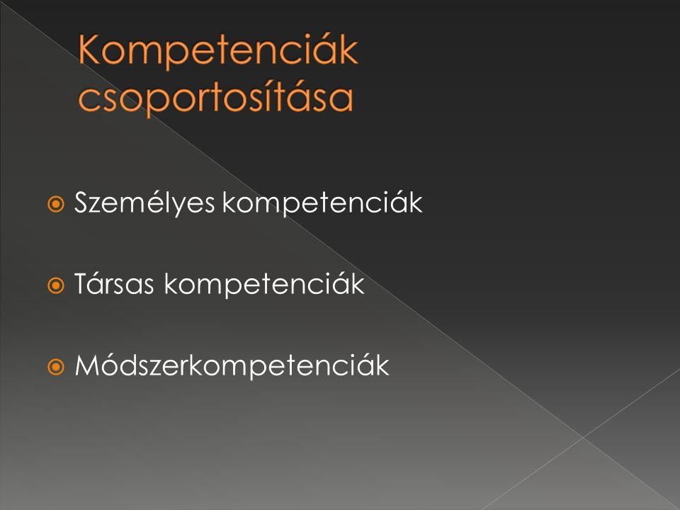 Kompetenciák csoportosítása