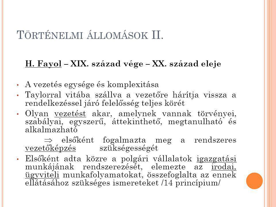 Történelmi állomások II.