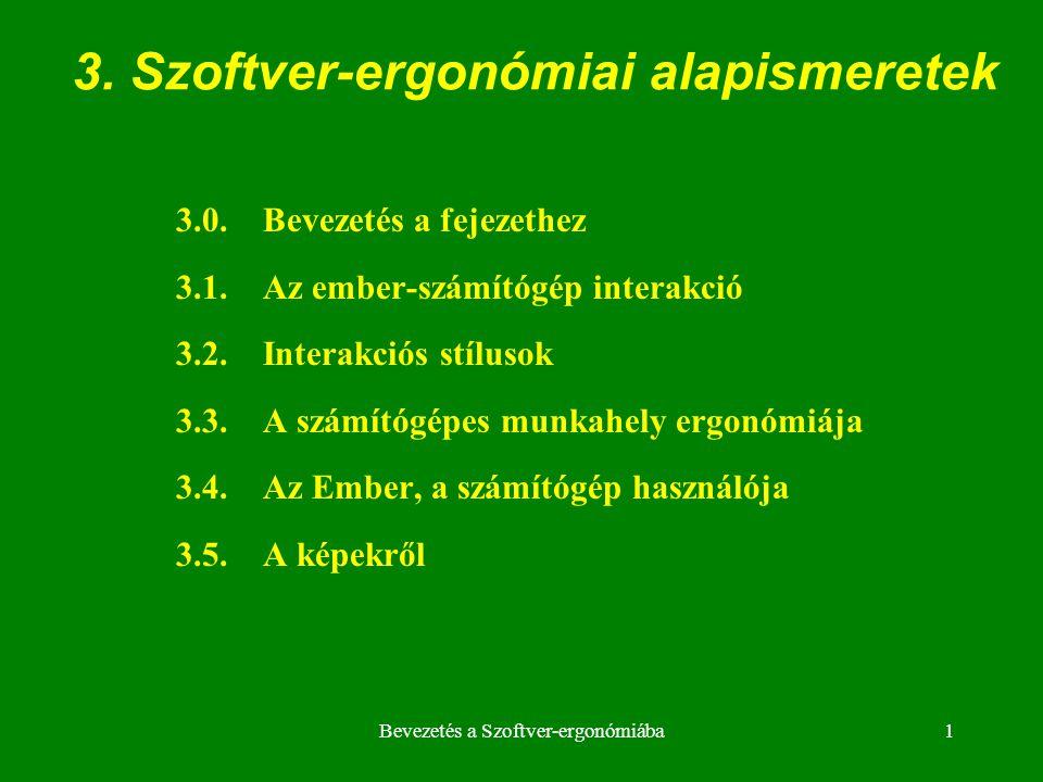 3. Szoftver-ergonómiai alapismeretek