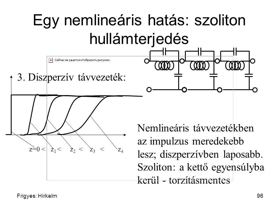 Egy nemlineáris hatás: szoliton hullámterjedés