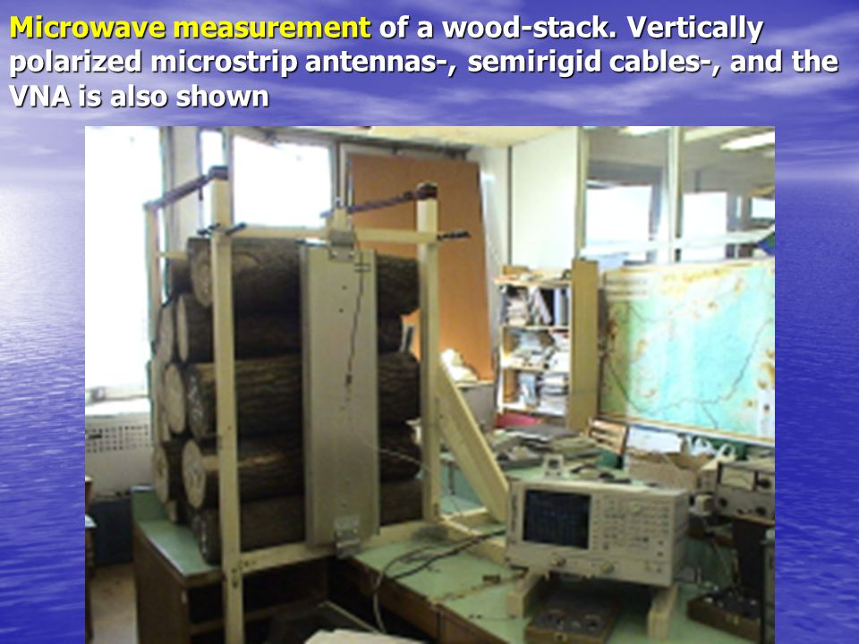 Microwave measurement of a wood-stack