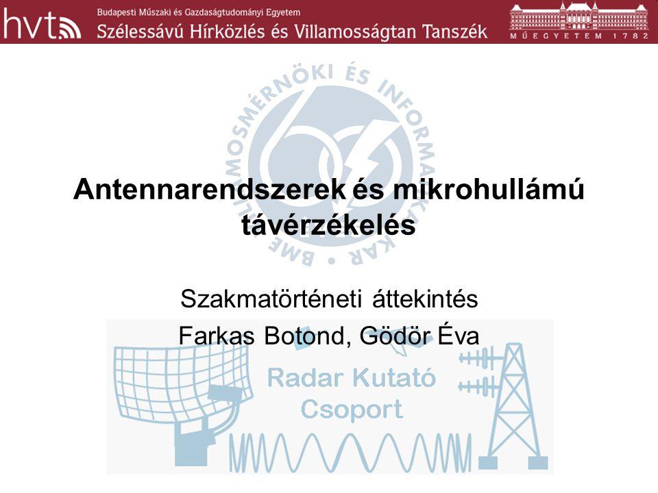 Antennarendszerek és mikrohullámú távérzékelés