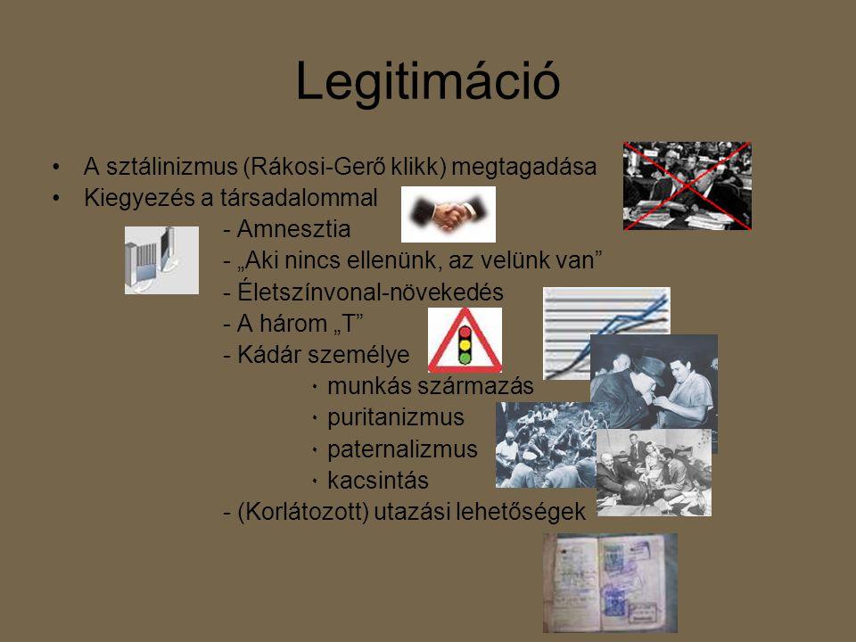 Legitimáció A sztálinizmus (Rákosi-Gerő klikk) megtagadása