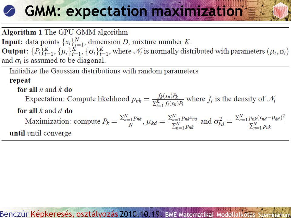 GMM: expectation maximization