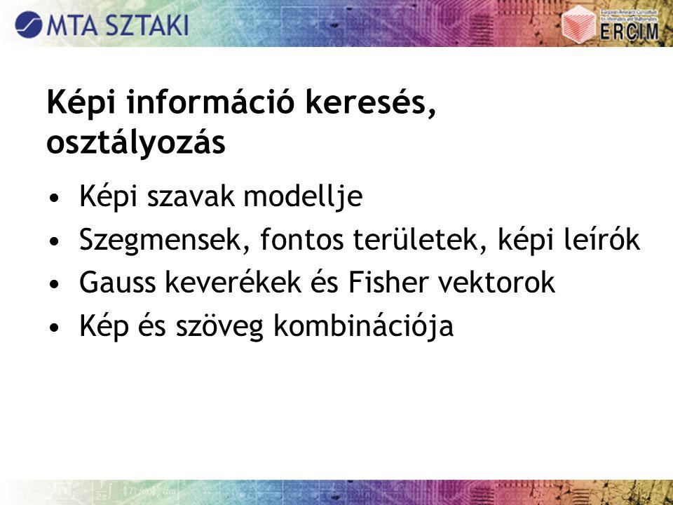 Képi információ keresés, osztályozás