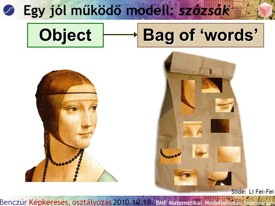Egy jól működő modell: szózsák