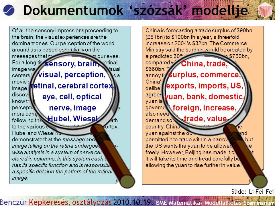 Dokumentumok 'szózsák' modellje