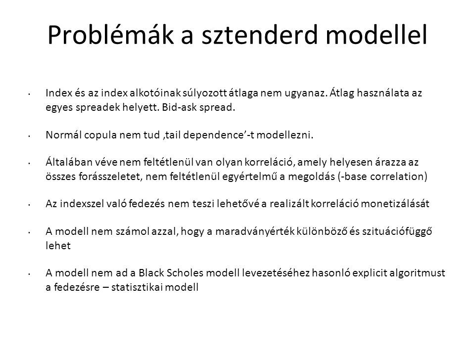 Problémák a sztenderd modellel