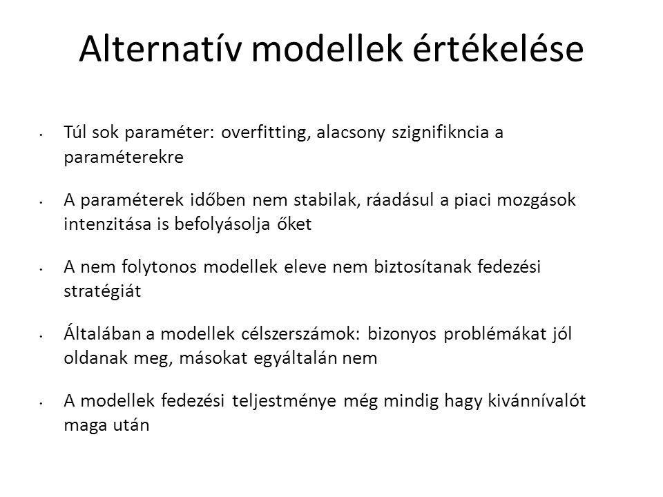 Alternatív modellek értékelése