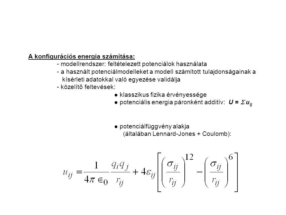 A konfigurációs energia számítása: