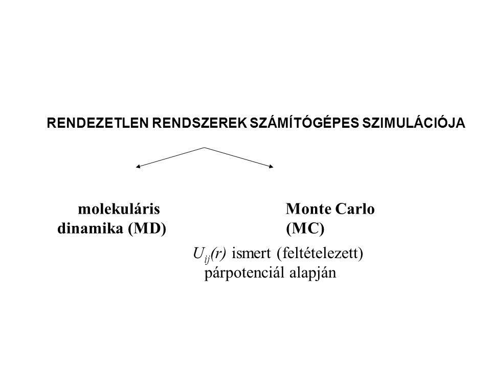 molekuláris dinamika (MD) Monte Carlo (MC)
