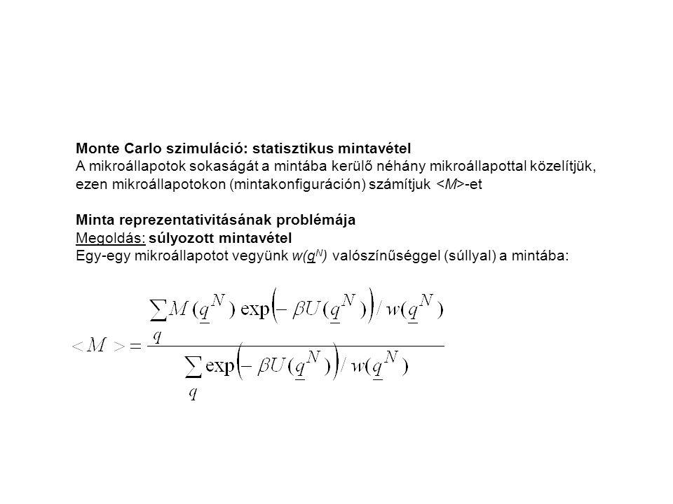 Monte Carlo szimuláció: statisztikus mintavétel