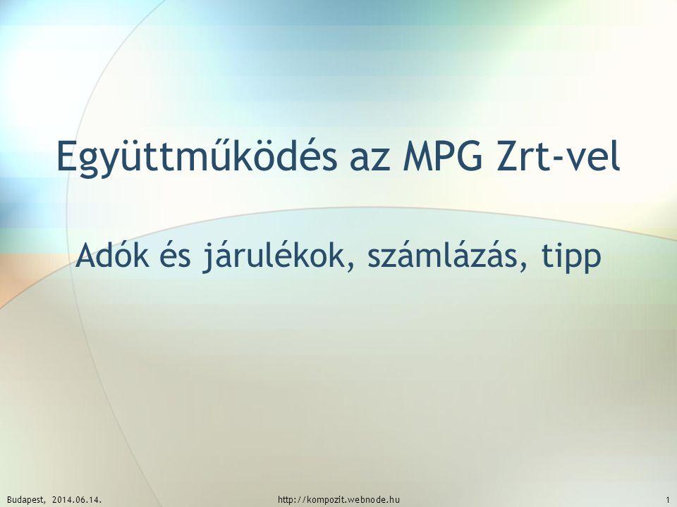 Együttműködés az MPG Zrt-vel