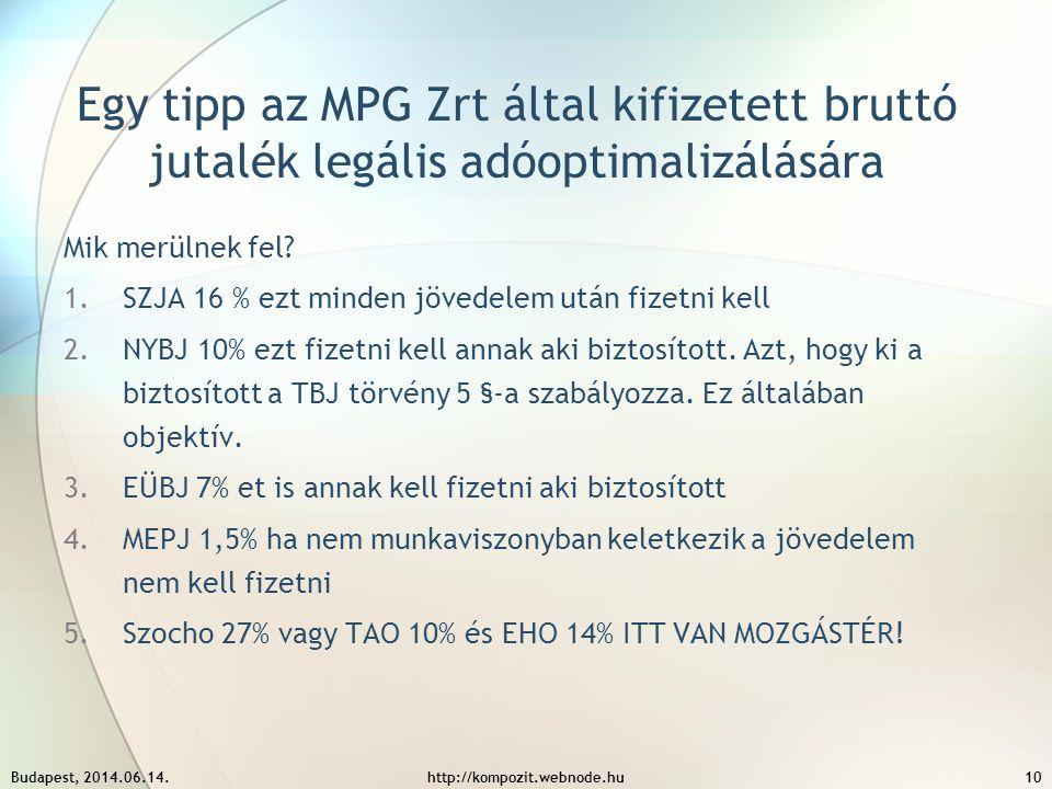 Egy tipp az MPG Zrt által kifizetett bruttó jutalék legális adóoptimalizálására
