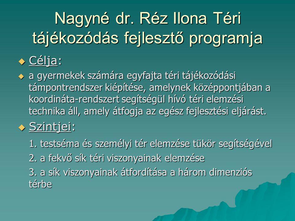 Nagyné dr. Réz Ilona Téri tájékozódás fejlesztő programja