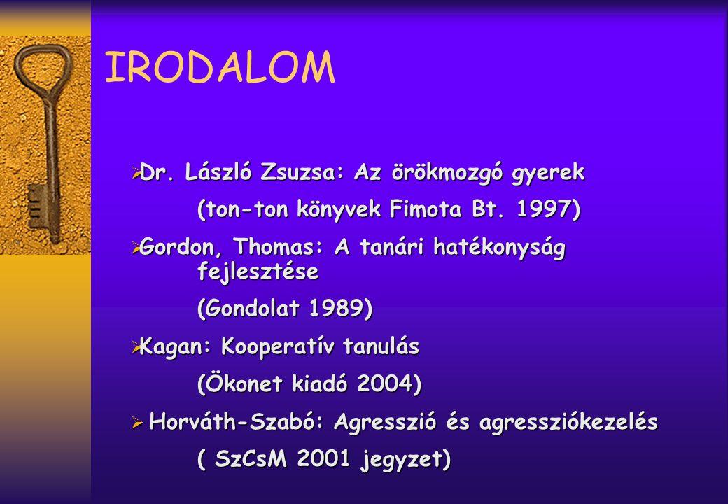 IRODALOM Dr. László Zsuzsa: Az örökmozgó gyerek
