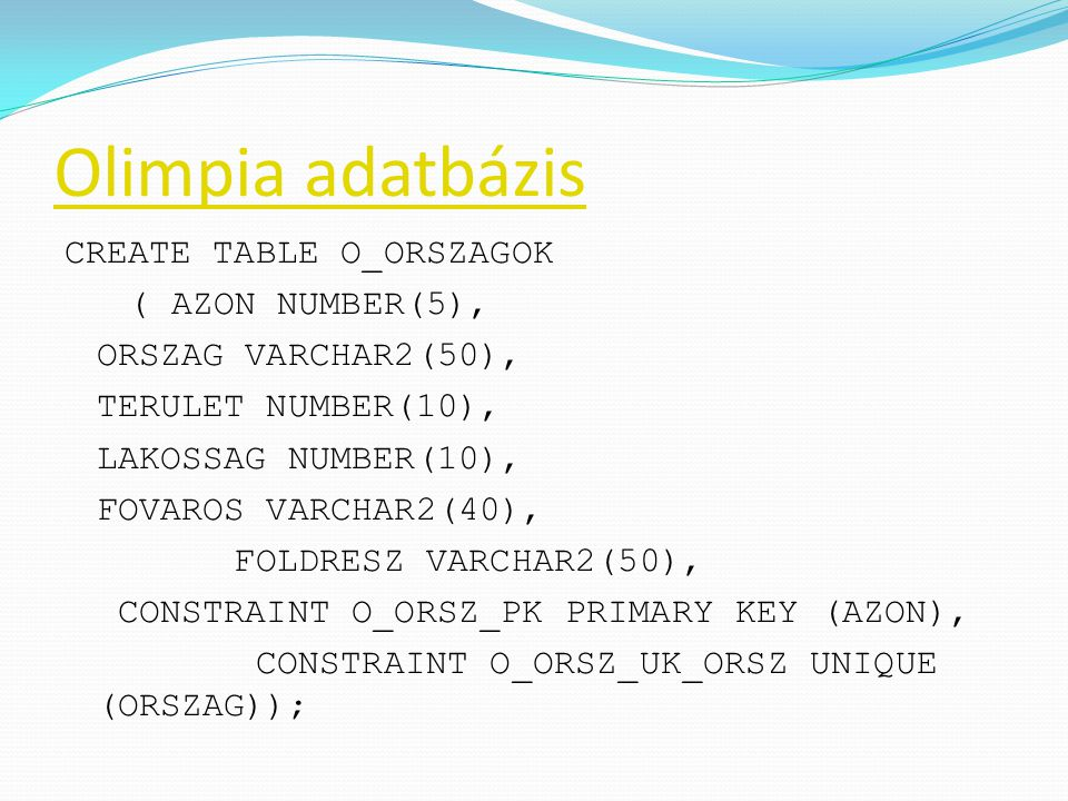 Olimpia adatbázis